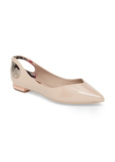 Ted Baker London Dabih Cutout Pointy Toe Flat (Women)