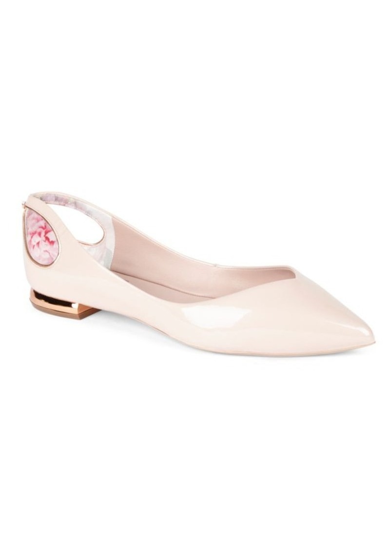 503871373bd6 SALE! Ted Baker Ted Baker London Dabih Patent Leather Ballet Flats