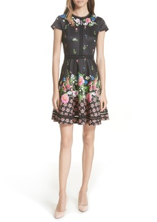 Ted Baker London Daissie Florence Trim Skater Dress