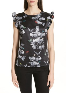 Ted Baker London Daneli Narnia Ruffle Sleeve Top