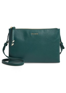 Ted Baker London Daniibar Double Zip Leather Crossbody Bag