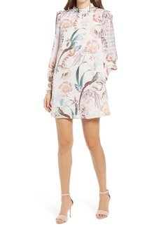 Ted Baker London Decadence Long Sleeve Shift Minidress
