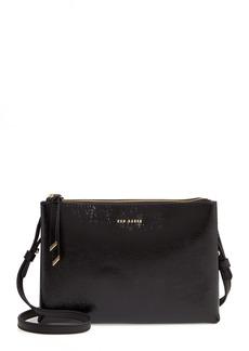 Ted Baker London Deenah Double Zip Leather Crossbody Bag