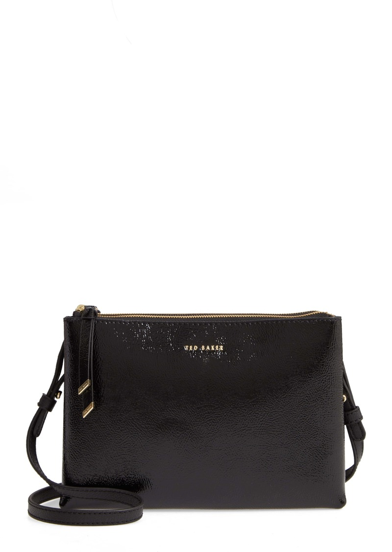 Ted Baker London Deenah Double Zip Leather Crossbody Bag
