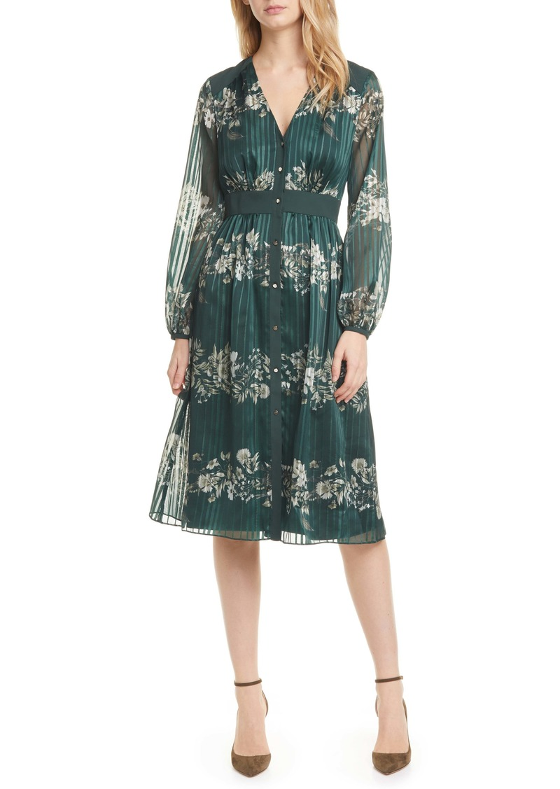 Ted Baker London Delyla Meadow Sweep Long Sleeve Dress