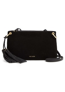 Ted Baker London Demetra Tassel Suede & Leather Crossbody Bag