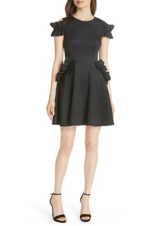 Ted Baker London Deneese Ruffle Trim Skater Dress