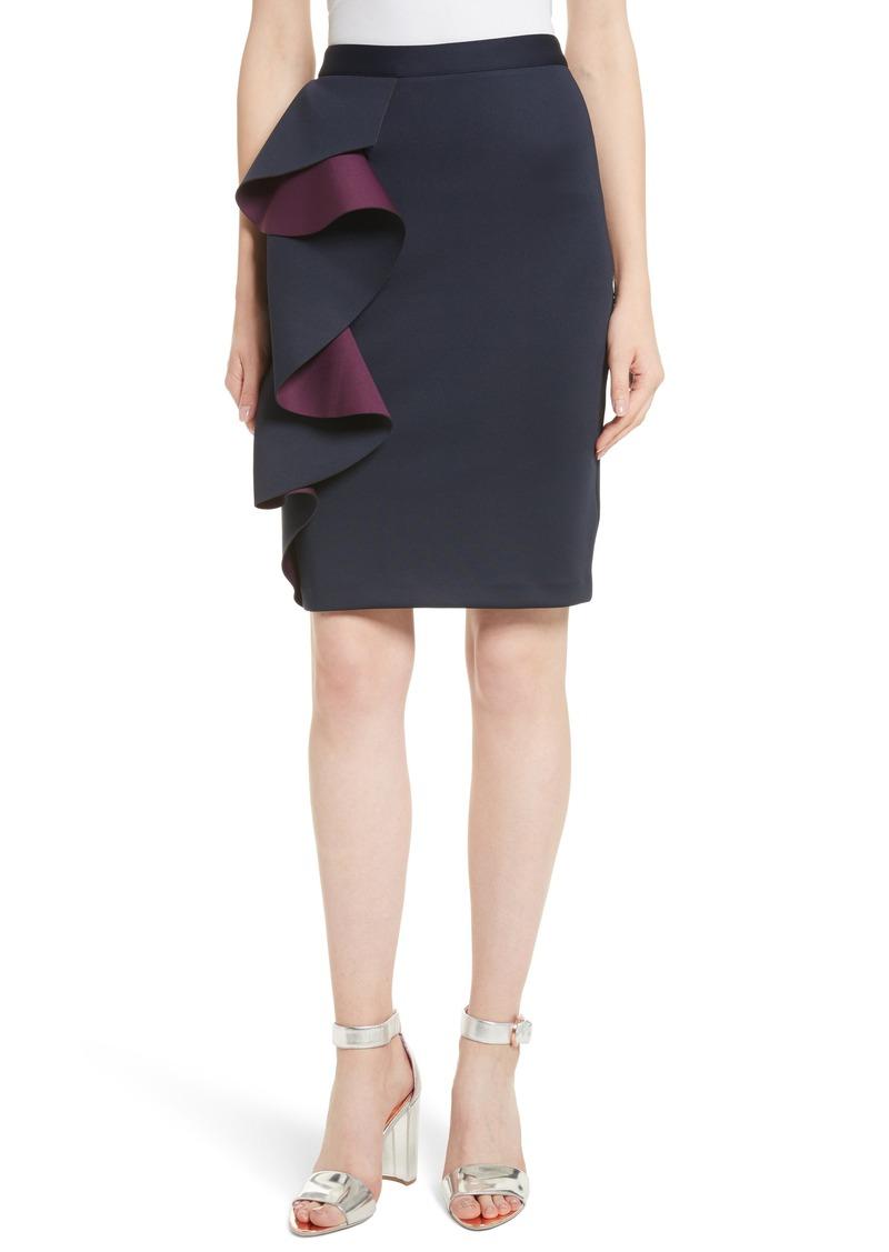 Pencil Skirt Ruffle