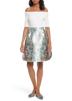 Ted Baker London Dewrose Patchwork A-line Dress