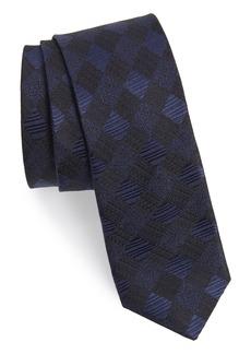 Ted Baker London Diamond Grid Silk Skinny Tie