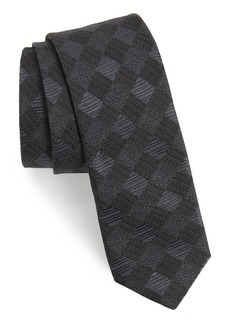 Ted Baker London Diamond Grid Silk Skinny Tie