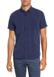 Ted Baker London Diamond Slim Fit Short Sleeve Button-Up Shirt