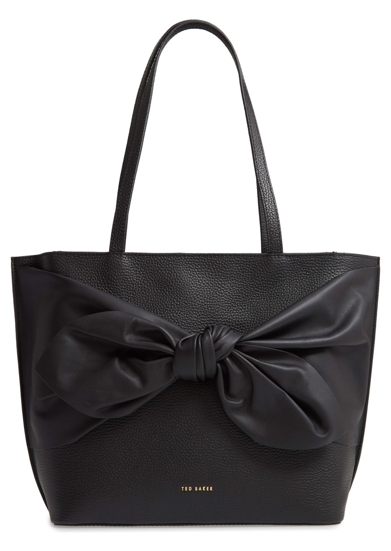 Ted Baker London Diiana Soft Knot Detail Leather Shopper