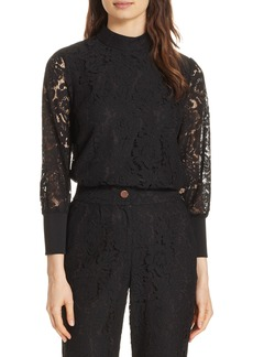 Ted Baker London Dilly Lace High Neck Blouse
