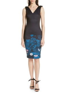 Ted Baker London Dinina Wonderland Body-Con Dress