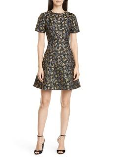 Ted Baker London Divwine Floral Jacquard Fit & Flare Dress