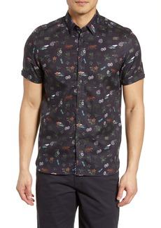Ted Baker London Dolfin Slim Fit Print Shirt