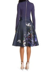 Ted Baker London Dominaa Long Sleeve Fit & Flare Dress
