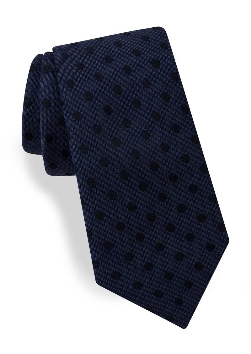 Ted Baker London Dot Silk & Wool Tie