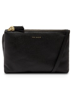 Ted Baker London Maceyy Double Zip Leather Crossbody Bag