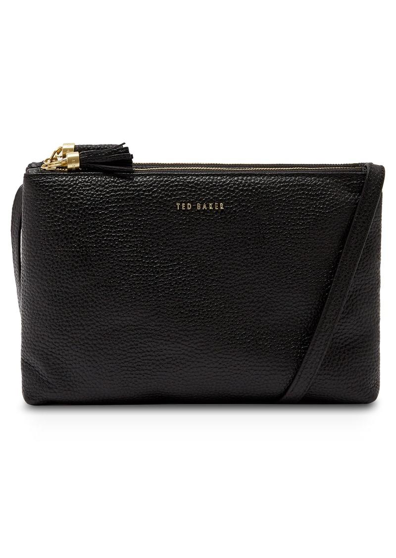 Ted Baker London Maceyy Double Zip Leather Crossbody Bag