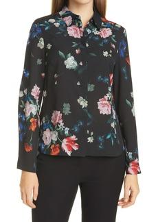 Ted Baker London Ebonny Floral Long Sleeve Button-Up Shirt