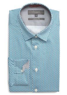 Ted Baker London Edde Slim Fit Print Dress Shirt