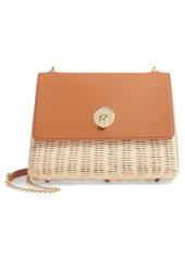 Ted Baker London Elava Wicker & Leather Crossbody Bag