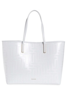 Ted Baker London Elenoor T Logo Coated Twill Shopper