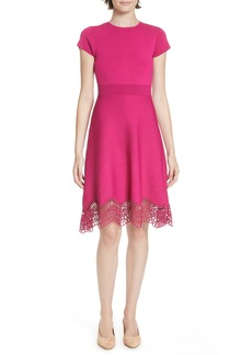 Ted Baker London Ellijo Lace Trim Skater Dress