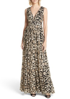 Ted Baker London Embellished A-Line Maxi Dress