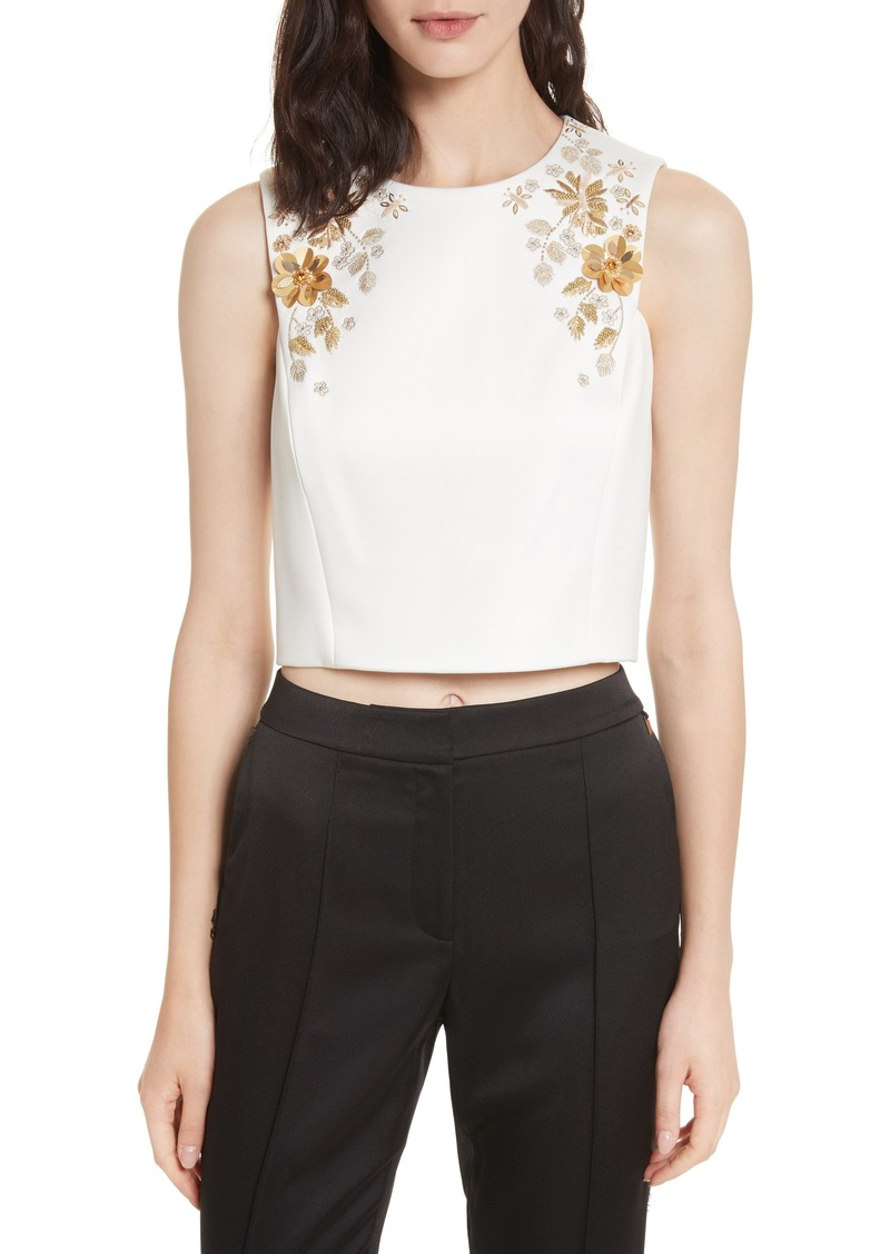 e3b28e58860102 Sale ted baker ted baker london embellished bee sleeveless crop top jpg  800x1127 Ted baker cropped