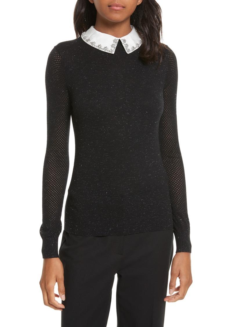 efdc7c4ac6 Ted Baker Ted Baker London Embellished Collar Sparkle Sweater