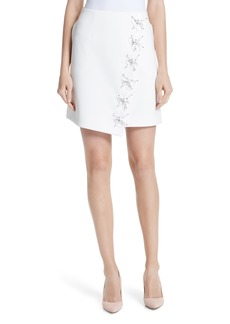 Ted Baker London Embellished Faux Wrap Mini Skirt