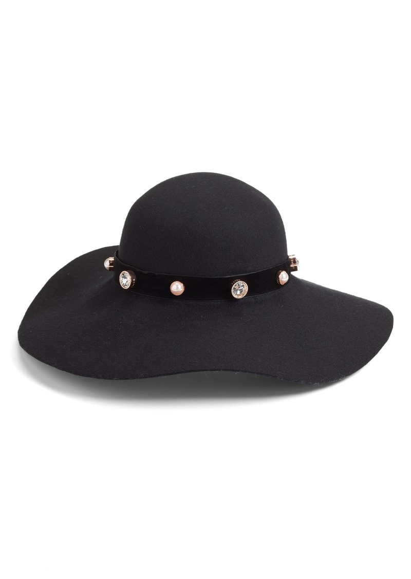 Ted Baker Ted Baker London Embellished Floppy Wool Hat  7ba6d5b5a40