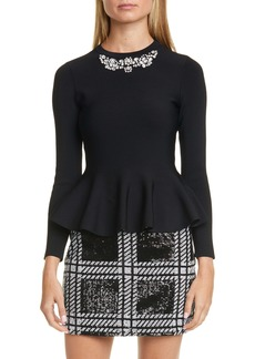 Ted Baker London Embellished Peplum Sweater
