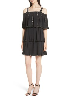 Ted Baker London Embellished Pleat Tiered Dress