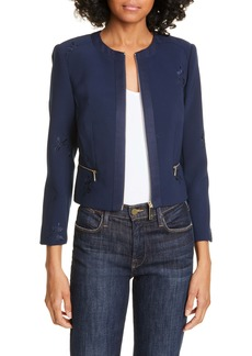 Ted Baker London Saahra Embroidered Crop Jacket