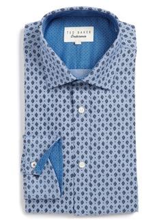 Ted Baker London Endurance Begbie Trim Fit Print Dress Shirt