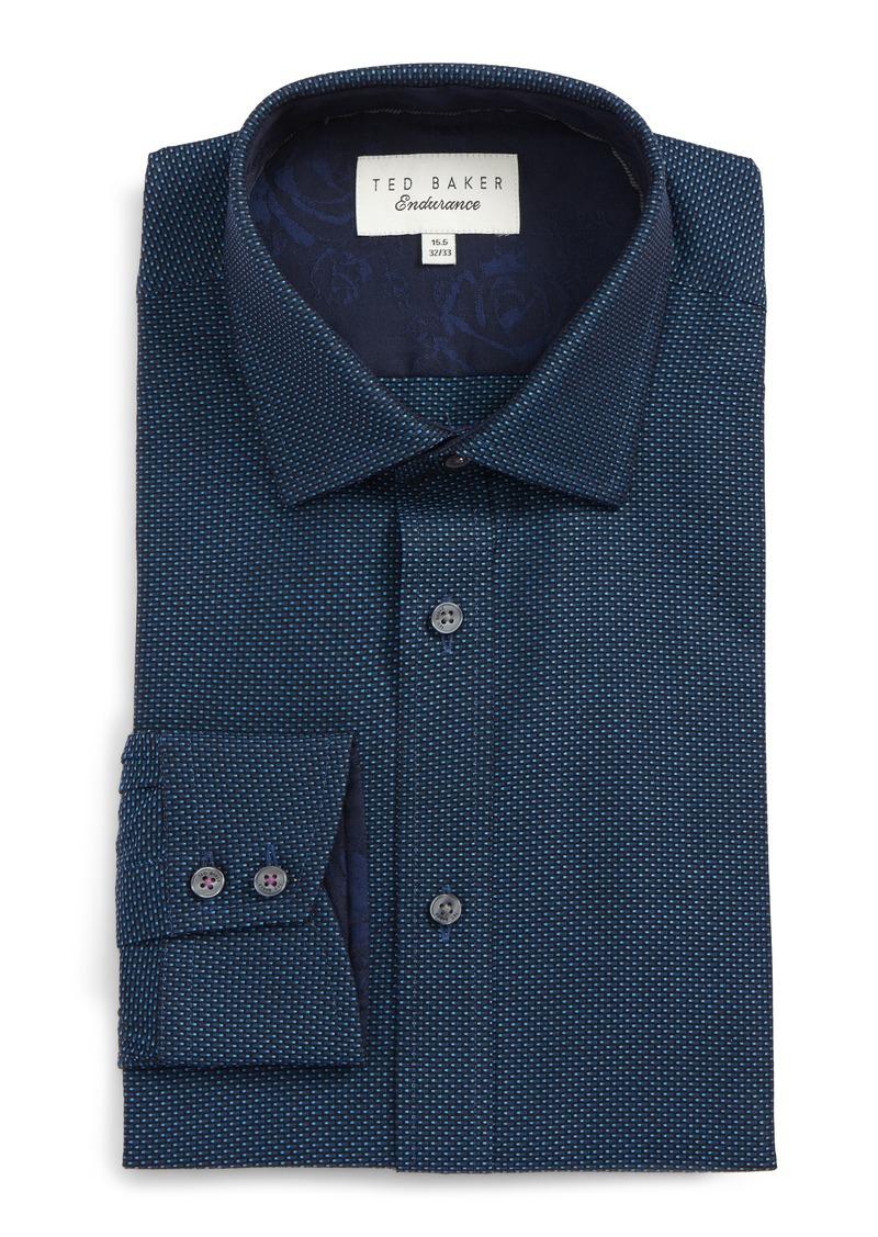 Sale ted baker ted baker london endurance trim fit dot for Ted baker shirts sale online