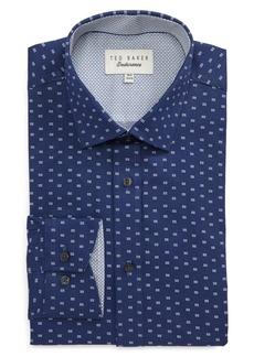 Ted Baker London Endurance Trim Fit Dot Print Dress Shirt