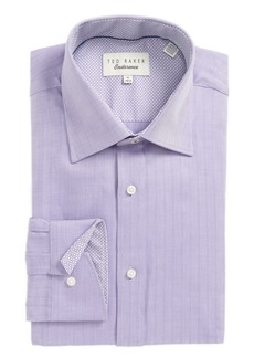 Ted Baker London Endurance Trim Fit Herringbone Dress Shirt