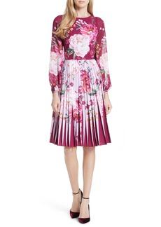 Ted Baker London Esperan Serenity Contrast Pleated Skirt Dress