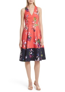 Ted Baker London Esselle Stretch Cotton Midi Dress