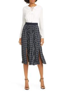 Ted Baker London Fancesa Check Skirt Midi Dress
