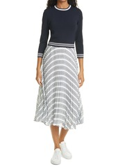 Ted Baker London Faustaa Three Quarter Sleeve Midi Dress