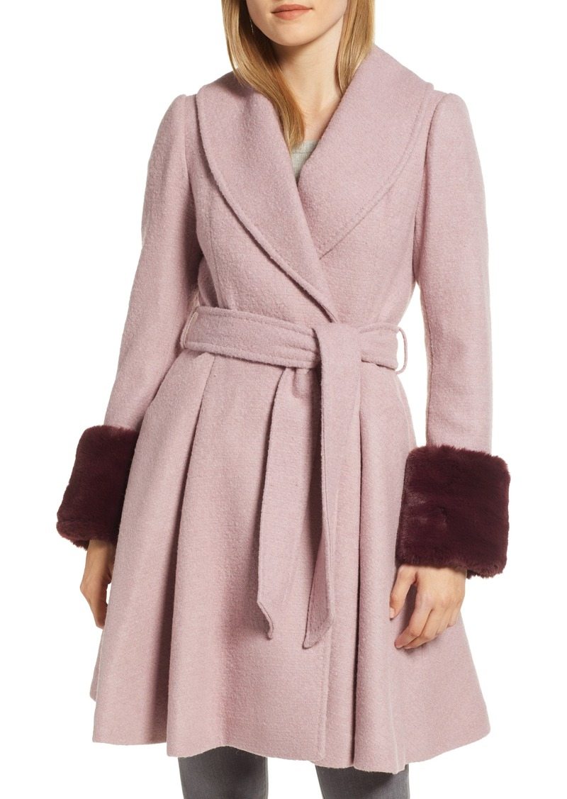 4e97ce83d2d1 Ted Baker Ted Baker London Faux Fur Cuff Skirted Coat