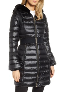 Ted Baker London Faux Fur Trim Down Jacket