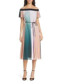 Ted Baker London Fernee Colorblock Pleated Dress