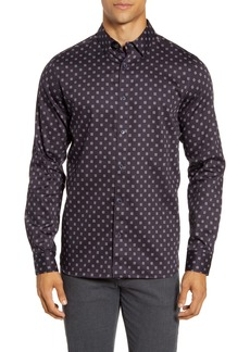 Ted Baker London Fille Slim Fit Circle Geo Print Button-Up Shirt